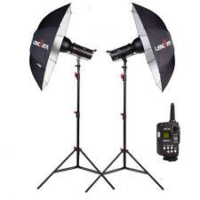 Lencarta Smartflash 4 | 2 Umbrella Studio Flash Lighting Kit | 600w | (300/300)