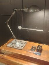 Vintage Machine Task Light -> Industrial Desk Lamp REWIRED w/ Custom Base