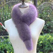 Women Winter Vulpes lagopus Fox Fur Collar Long Scarf Wrap Shawl Fashion Warm