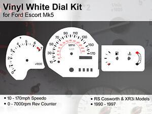 Ford Escort Mk5 (1990 - 1997) - 170mph RS Cosworth / XR3i - Vinyl White Dial Kit