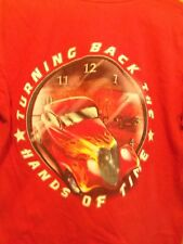 Black sheep Roderz red graphic  the hands of time L t shirt Hot Rod