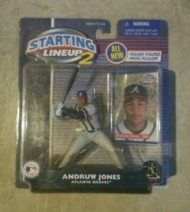 2001 ANDRUW JONES Starting Lineup Figure Atlanta Braves SLU Ships Free 24 hrs