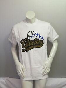Vintage Minor League Baseball Shirt - Surrey Glaciers - Script Logo - Men's L