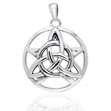 Druids Amulet - Triquetra Knot and Pentacle Sterling Silver Pendant