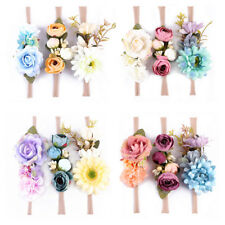 EE_ 3Pcs Boho Fake Flower Headband Baby Girl Wreath Newborn Hair Accessories Nov