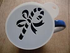 Laser cut candy cane design coffee and craft stencil