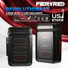 2 Pairs Jeep Wrangler JK LED Tail Lights Brake Reverse Turn Signal Rear Light