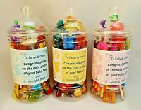 New Baby Gift Sweets / Chocolate filled jar New Arrival *Congratulations