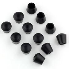 12pcs Black Furniture Conical Rubber Feet Pad Covers for 14mm Diameter Chair Tip