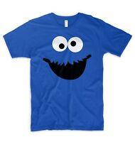Cookie Monster T Shirt Elmo Sesame Street Face Logo Head Diet Gym Training