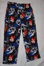 Boys Pajamas Pants FLEECE Pixelated Look DINOSAUR & SKULL Sleep Lounge S 6-7