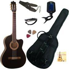 PACK Guitare Électro-Classique Noire Cordes D'addario 6 Accessoires