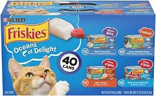 Purina Friskies Canned Wet Cat Food Treat Oceans Delight Variety Packs 40-count