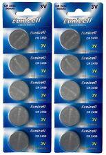 ☀️☀️☀️☀️☀️ 10 x CR2450 ( 3V 540 mAh)Lithium Batterie 2 Cards a 5 Batterien Euni