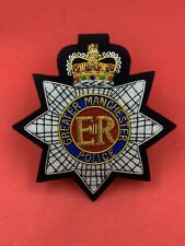 More details for greater manchester police blazer badge hand embroidered with bullion and wire
