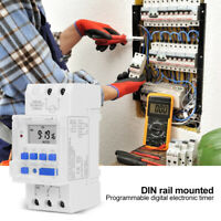 TM919A DIN Mounted 7 Day Programmable Digital Timer Switch Relay Controller UK