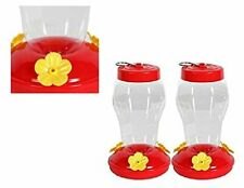New listing Garden Collection Hanging Hummingbird Feeder - 6.75 Inches - 2 Pack Clear Red