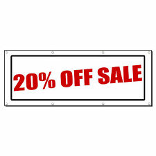 20% OFF SALE Promotion Business Sign Banner 2' x 4' w/ 4 Grommets