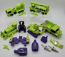 Vintage 1985 Hasbro Transformers G1 Devastator lot! ! *Read*