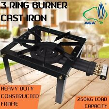 IGNITE 3 Ring Cast Iron Wok Burner LPG Gas Heavy Duty Stand