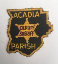 Acadia Parish Deputy Sheriff, Louisiana old cheesecloth shoulder patch