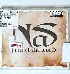 NAS SEALED IMPORT CD Q TIP REMIX HALFTIME THE WORLD IS YOURS 1996 RAP HIPHOP VTG