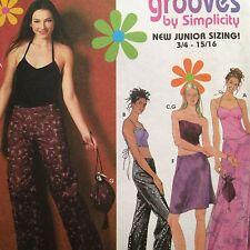 Simplicity Jr Pattern 9472 Pants Skirt Lace Up Halter Corset Bustier 3/4-9/10
