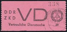 DDR-Dienst, MiNr. D 2 II, gestempelt, tadellos, Befund Paul, Mi. 500,-