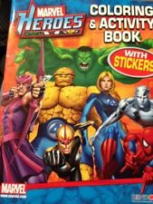 Marval Heroes Activity Book w/50 Stickers, 1 Poster and Growth Chart
