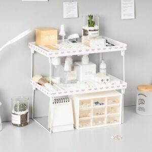 Home Desktop Organizer Kitchen Space Saving Shelves Cabinet Holders Storage Rack