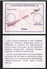 FRANCE COUPON REPONSE (E) 1,80 franc Specimen sans valeur fictif neuf