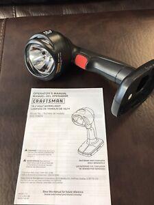 NEW Craftsman C3 19.2v Volt Pivoting Head Cordless Flashlight Work Light 11391