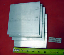 "4 pieces 1/2""x 5"" ALUMINUM 6061 Flat Bar 6"" LONG T6511 Plate Extruded Mill Stock"