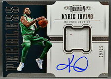17-18 Panini Dominion Kyrie Irving ON CARD NBA AUTO JERSEY #9/25 2017 2018
