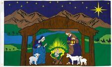Nativity Scene Flag 3x5ft Holiday House Flag Seasonal Decor Christmas Flag