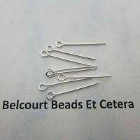 500 Open Eye Pins - Silver Color 1 Inch - 22GA Easy to Use!
