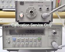 CALIBRATION SERVICE Agilent 437B Power Meter NIST Calibration