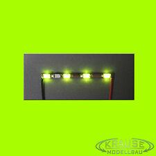 Miniatur Lichtleiste 4 SMD LEDs Typ 1206 grüngelb Modellbahn Kirmes Modellbau
