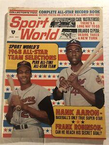 1968 Sport World ATLANTA BRAVES Hank AARON All Star Game ORIOLES Frank ROBINSON