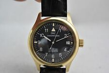 IWC Pilot Mark XII 18K Yellow Gold automatic 3421, with original box, excellent