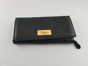 Buxton  Zip Women's Clutch Leather Wallet Black