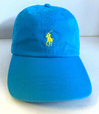 New! Ralph Lauren Polo Unisex Classic Sport Adjustable Cap-Caribbean Blue/Yellow