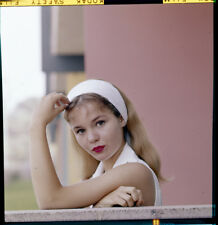 TUESDAY WELD white head scarf vintage  2.25 x 2.25 Original Photo Transparency