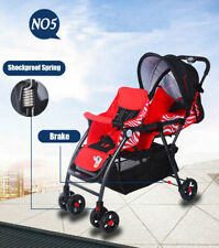 Mm kiddies New Tandem Double Pram Twin Stroller New Born Toddler Baby Jogger