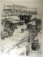Gravure de Charles Heyman, Porte de Billancourt, 1919