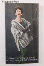 Retro Vintage Picture WOMAN LADY CANVAS SIGN    *DIAMONDS