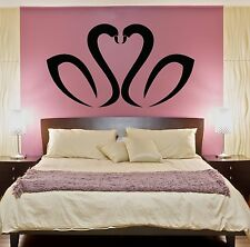 Wall Stickers Vinyl Decal Black Swans Birds Cute Decor For Bedroom (z1864)