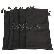 2Pcs Black Sunglass Eyeglass Reading Eye Glasses Case Soft Microfibre Pouch Bag