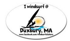 "I Windsurf @ Duxbury, Ma Bumper/Window Sticker Oval 3"" X 5"""