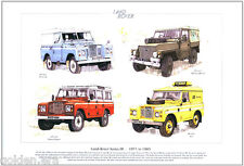 Land-Rover Series III - 1971 to 1985 Art Print - Station Wagon, Military 1/2 Ton